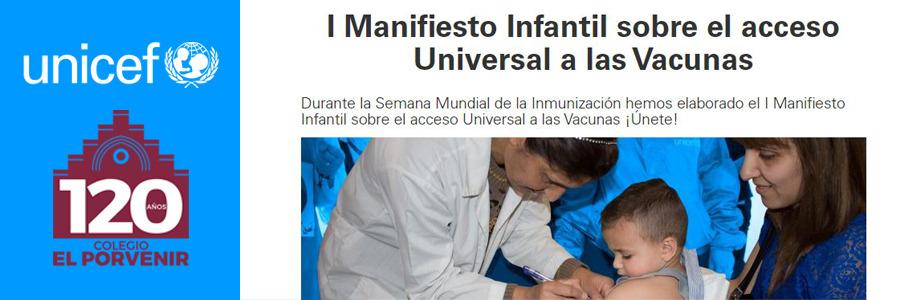 El Porvenir se une al I Manifiesto Infantil sobre el Acceso Universal a las Vacunas