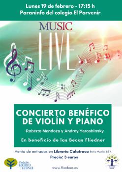 Concierto benéfico de violín y piano