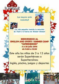 ENGLISH AND SPORTS SUMMER CAMP en El Porvenir (de 3 a 12 años)