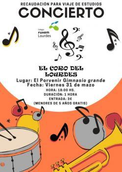 """Concierto """"El Coro del Lourdes"""" - 31 de marzo"""
