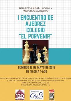 "PRIMER ENCUENTRO DE AJEDREZ COLEGIO ""EL PORVENIR"""