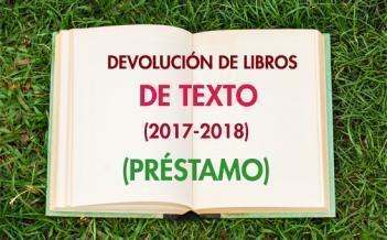 Devolución de Libros de Texto 2017-2018 -  Programa de Préstamo del colegio
