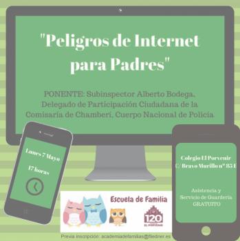 "Escuela de Familia -  Taller: ""Peligros de Internet para padres"""