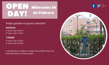 Open day! Próximo miércoles 14 de febrero de 2018