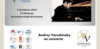 Concierto Andrey Yaroshinsky el 7 de febrero a las 17:30 h