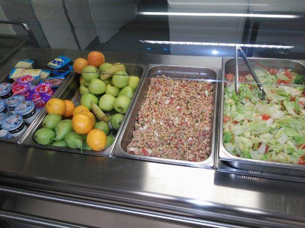 Menú en el colegio con legumbres