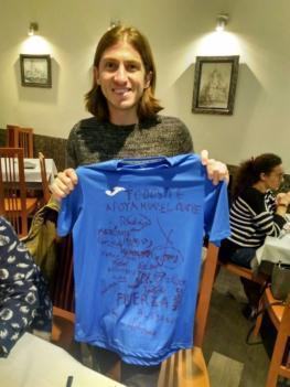Carta de Rodrigo, jugador del equipo alevín de fútbol sala del Porve
