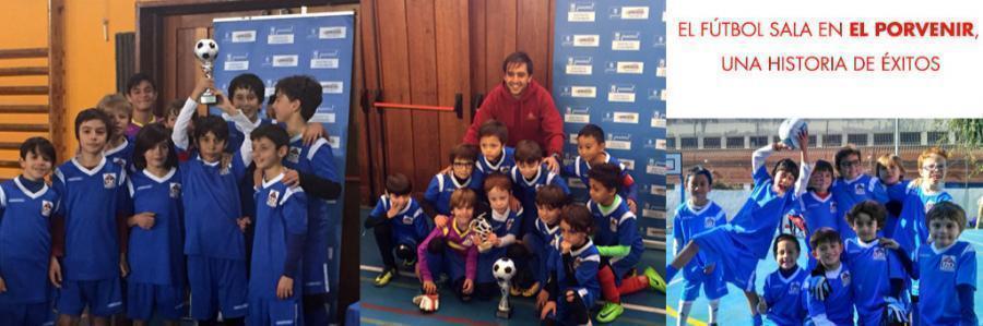 El fútbol sala en El Porvenir 2018-2019, una historia de éxitos: alumnos de El Porvenir y externos