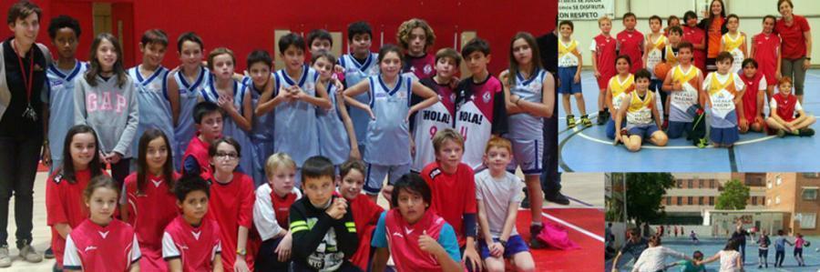 Equipos de baloncesto en Primaria 2018-2019 : alumnos de El Porvenir y externos