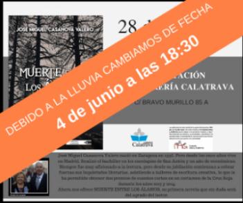 """Se pospone al próximo 4 de junio la presentación en la Librería Calatrava de la obra """"Muerte entre los álamos"""""""