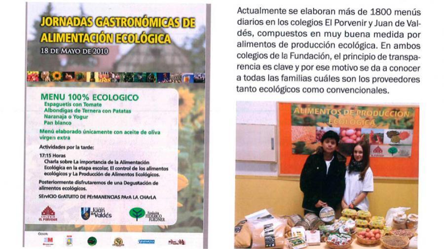 Apostando por un Comedor Ecológico en la Fundación Federico Fliedner