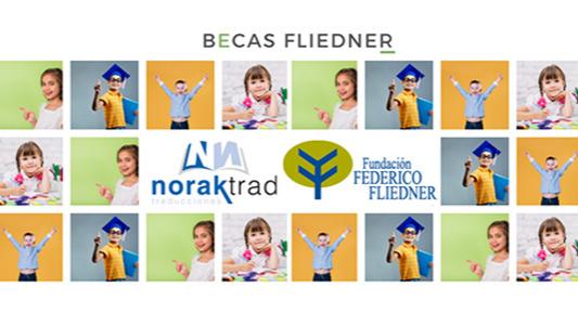 La empresa Norak dona 2.400 € para apoyar el proyecto de becas de la Fundación