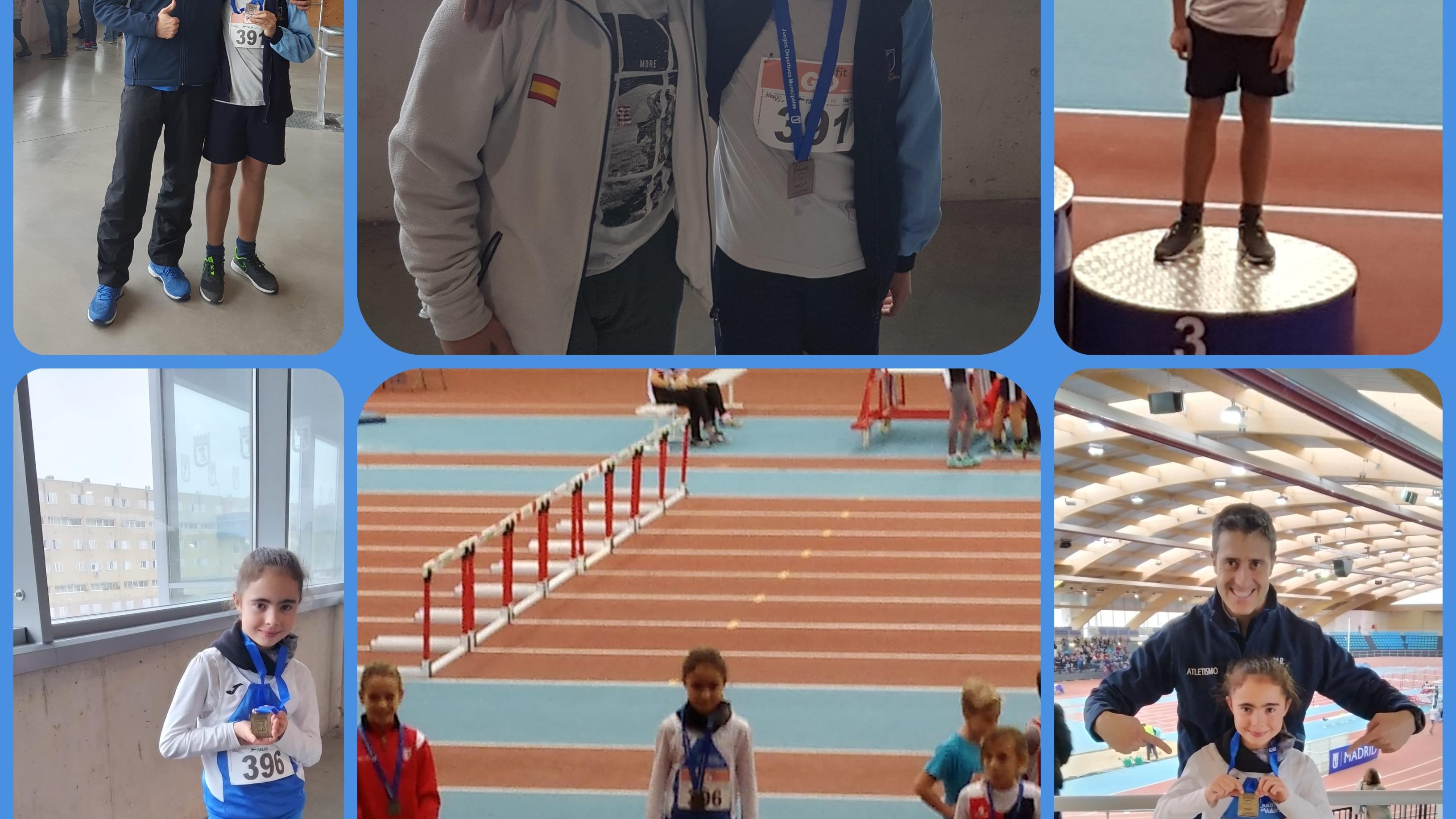 Medallas para nuestros atletas en el Trofeo de Navidad del Ayuntamiento de Madrid