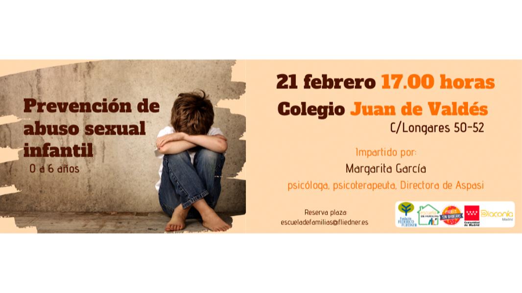 """Escuela de Familias invita al taller """"Prevención de abuso sexual infantil en niños de 0 a 6 años"""""""