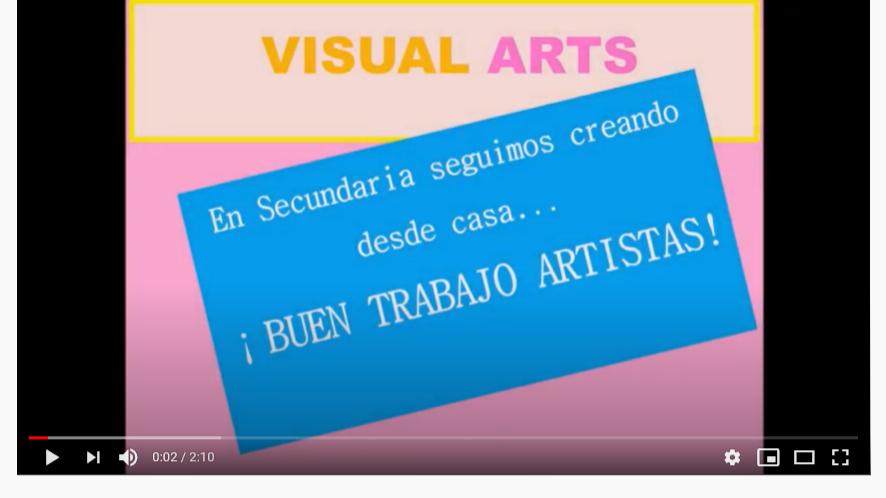 Visual ARTS: en Secundaria seguimos creando desde casa