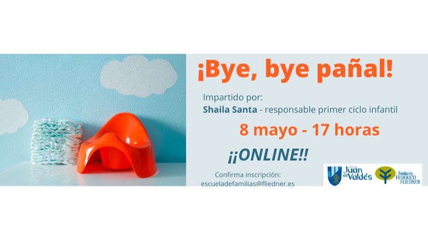 """Escuela de Familias online celebra el taller """"Bye, bye pañal"""""""