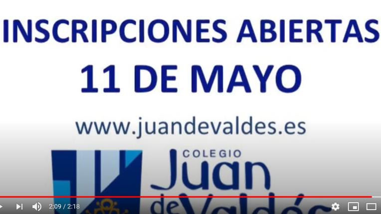 11 de mayo: inicio del plazo de matrícula para las Actividades Extraescolares Juan de Valdés 2020 - 2021