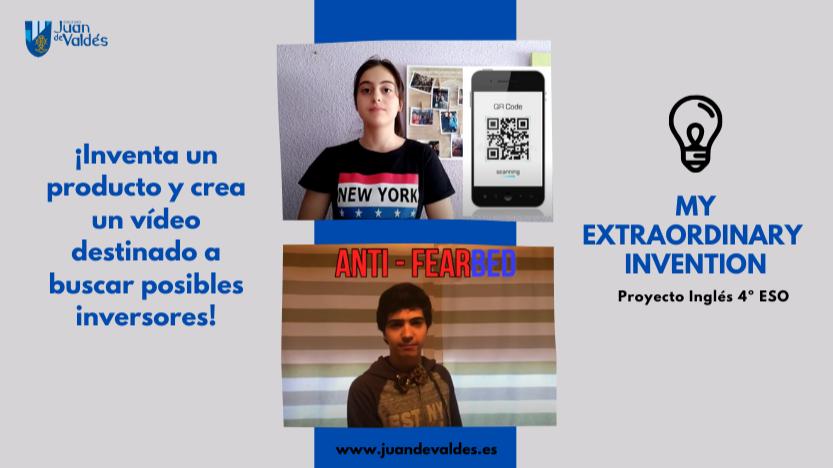 """Proyecto Inglés 4ºESO: """"My Extraordinary Invention"""". ¡Inventa un producto y crea un vídeo para buscar inversores!"""