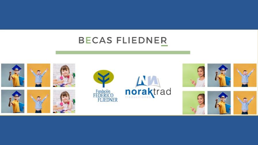 La empresa Norak dona 1.960€ para apoyar el proyecto de Becas Fliedner de la Fundación