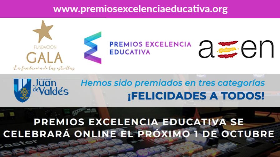 Nuestro colegio ha sido premiado en tres categorías en los Premios Excelencia Educativa