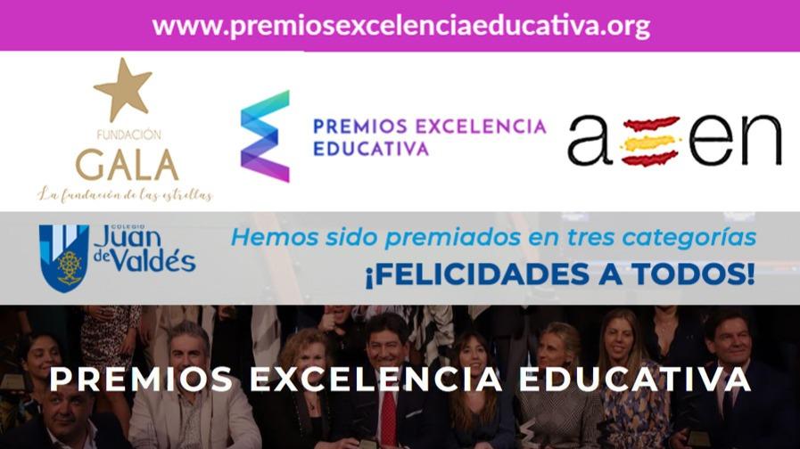 Nuestro colegio ha sido premiado en tres categorías en los Premios Excelencia Educativa 2020
