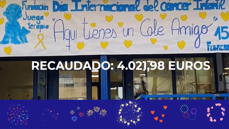 ¡GRACIAS!: Hemos recaudado 4.021,98 euros para Juegaterapia