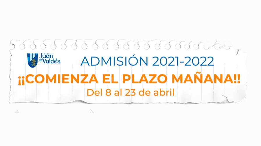 Mañana comienza el plazo para la Admisión 2021-2022 plazas concertadas: Infantil (3-6), Primaria y Secundaria