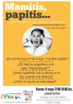 """Charla """"Mamitis, papitis… ¡Ni un momento para mi!... Angustia de separación"""""""