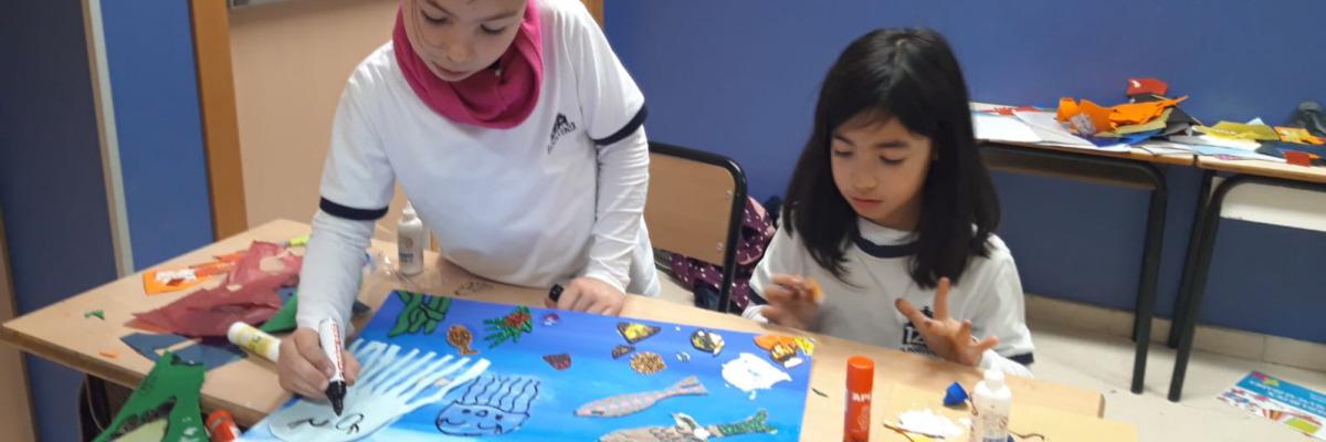 """Taller:  """"Arte en el fondo del mar"""" con 3º Primaria"""