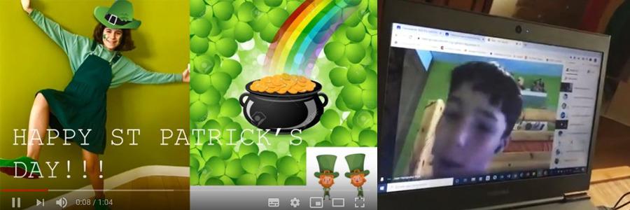 Como podéis ver en los vídeos, St. Patrick's Day dio para mucho la semana pasada en 6º Primaria
