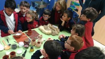 Los alumnos de 1º de Primaria han estudiado el arte en el Antiguo Egipto