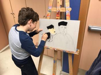 Los alumnos de 4º de Primaria han realizado un taller en el colegio sobre la vida y obra de Honoré Daumier