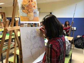 Taller en el colegio sobre la vida y obra de Vicent Van Gogh