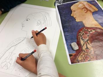 """Taller de pintura: """"el retrato en la Época Medieval, una fotografía pintada a mano"""""""
