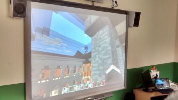 Una recreación del Real Sitio de El Pardo en el videojuego Minecraft
