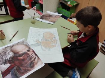 Los alumnos de 3º de Educación Primaria están estudiando algunos artistas de Renacimiento