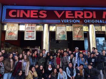 Alumnos de Bachillerato y 4ºESO  acuden al cine