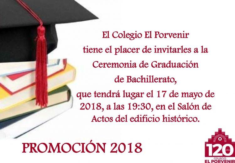 Fiesta Graduación Bachillerato El Porvenir 2018