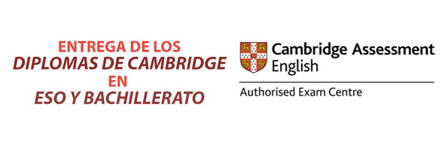 Entrega de Diplomas de Cambridge a Secundaria y Bachillerato