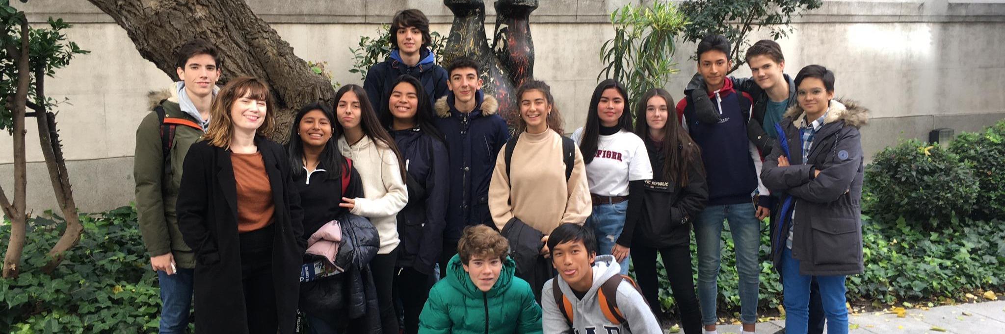 Visita de nuestros estudiantes al Goethe-Institut