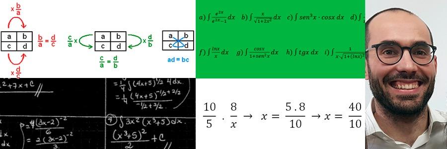 Explicaciones sobre la proporcionalidad numérica: 3º ESO, y sobre los métodos de integración: 1º Bachillerato