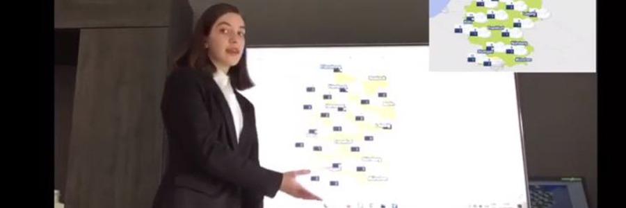 """VÍDEO: la """"meteoróloga"""" María Salido (3º ESO) nos explica el tiempo que hará en Alemania"""