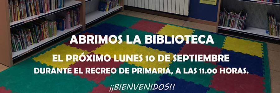 Desde hoy, la biblioteca está abierta para Primaria en el recreo de las 11:00