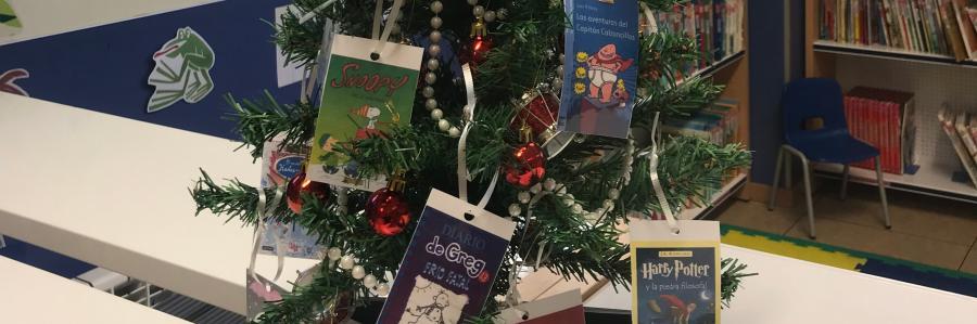Árbol de Navidad con lecturas