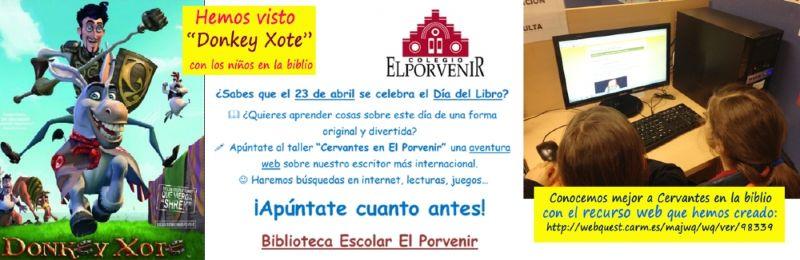 Actividades Día del Libro sobre Cervantes