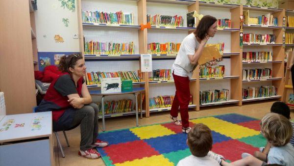 Cuentacuentos biblioteca escolar El Porvenir