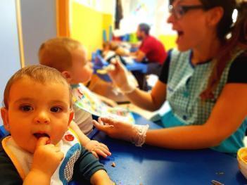 La alimentación en las aulas de bebés y de 1 año