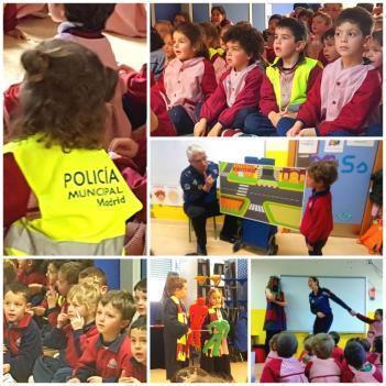 STOP: La Policía Municipal en Segundo de Educación Infantil.