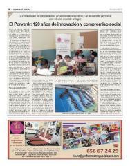 Chamberí, mediante los medios de comunicación locales, se hace eco del proyecto educativo de El Porvenir y su 120 cumpleaños