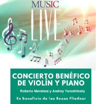 19 de febrero a las 17.15 horas, concierto benéfico de piano y violín a favor de las Becas Fliedner